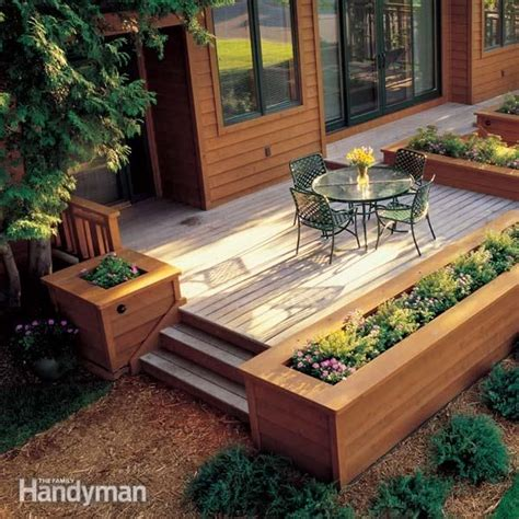 Patio Planters by Built In Planter Ideas Planters Project Ideas And Decking