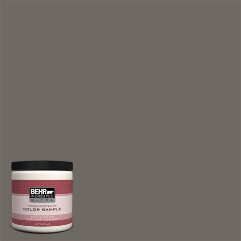 behr premium plus ultra 5 gal ppu18 4 pewter flat exterior paint 485405 the home depot
