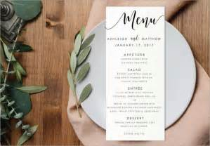 Free Menu Templates by Menu Templates Free Pdf Word Documents