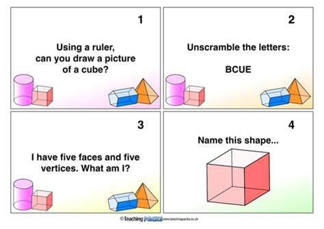 the shape challenge 3d shape challenge by priestmrng uk teaching resources tes
