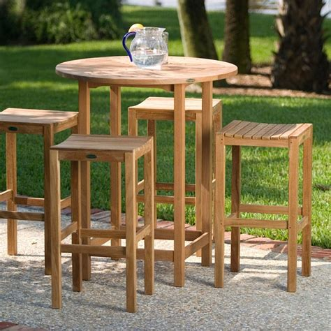 outdoor bar stool sets somerset teak bar stool and bar table set somerset teak