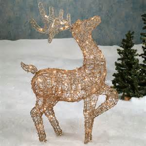 outdoor reindeer with lights top 5 yard decorations for outdoortheme