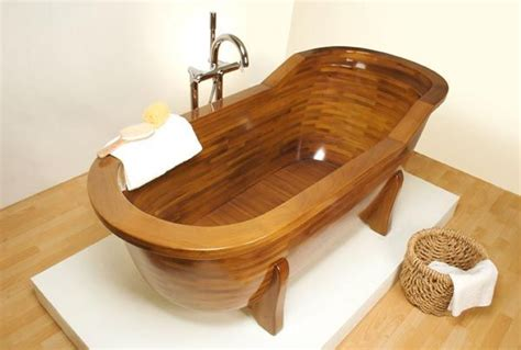 what is a bathtub made of wood made bathtubs by stolis turn your bathroom into a spa