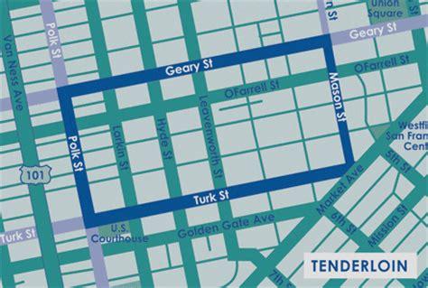 san francisco neighborhood map tenderloin raiderlegend tenderloin district