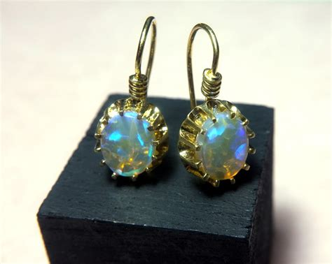 Handmade Bracelets Singapore - sijs opal drop earrings singapore island jewellery