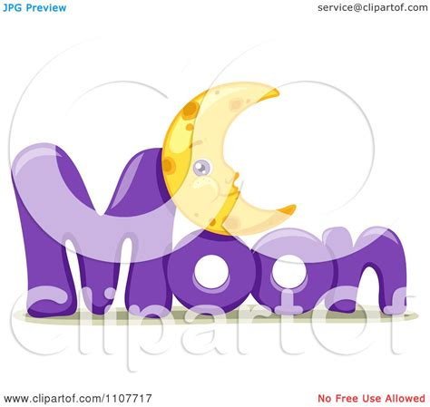 clipart word clipart the word moon for letter m royalty free vector