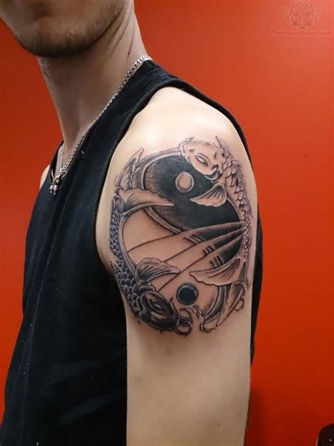 tai chi tattoo designs koi and ying yang on shoulder city