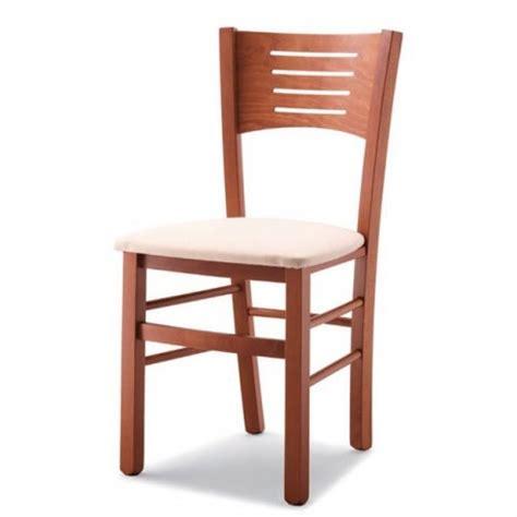 vendita sedie in legno sedia verona in legno con sedile imbottito paglia massello