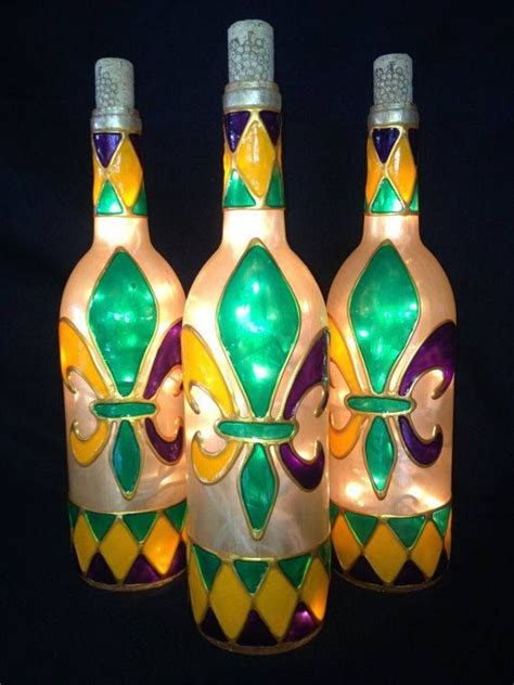 decorated wine bottles with lights inside wine bottle with interior lights can be painted with