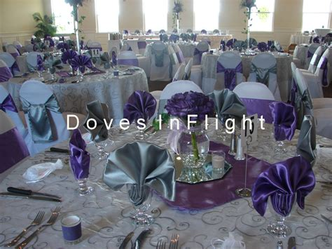 Silver Table Decorations by Chair Covers Of Lansing Table Decorations