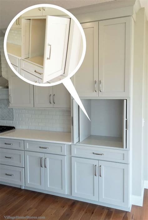 Pocket Door Kitchen Cabinets Pocket Doors In Kitchen Cabinetry For Hiding A Tv Microwave Or Coffeestation Within