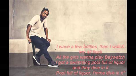 kendrick lamar drank lyrics kendrick lamar swimming pools drank clean lyrics