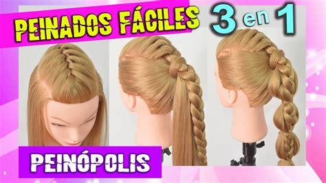 imagenes de trenzas muy bonitas 3 peinados con trenzas faciles bonitas y rapidos youtube