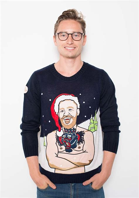 conor mcgregor tattoo jumper conor mcgregor one off christmas jumper for auction