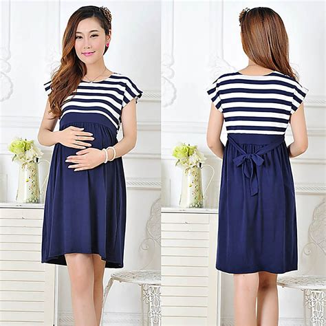 Dress Anak Motif Garis dress casual model longgar motif garis untuk ibu