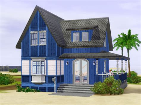 blue beach houses spring4sims three new houses by plasticbox mts