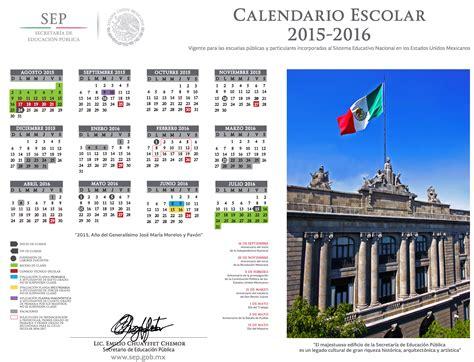 calendarios escolares 2015 2016 escolar mx