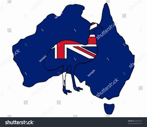Email Address Finder Australia Australian Emu Stock Vector Illustration 64937674