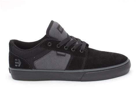 black and silver ls etnies quot barge ls quot shoes black grey black kunstform bmx