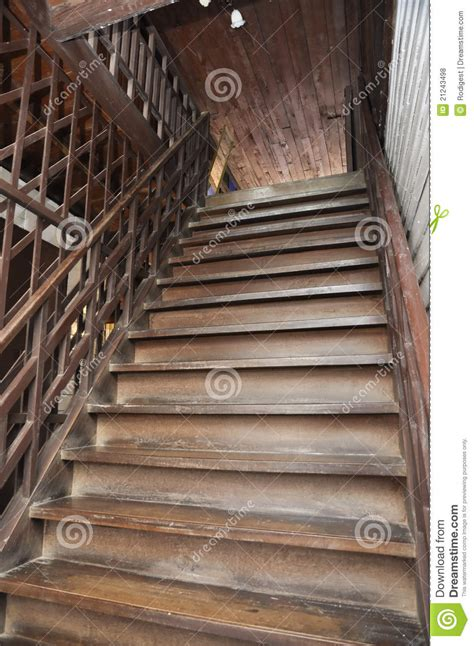 brown  style wood ladder home stock photo image