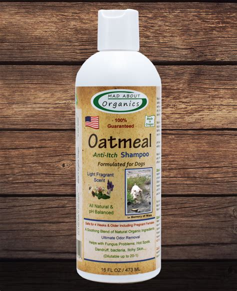 organic dogs organic oatmeal shoo 16oz formulated for dogs