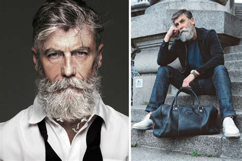 60 year old men with beards man suddenly turns into a successful model at age 60 after
