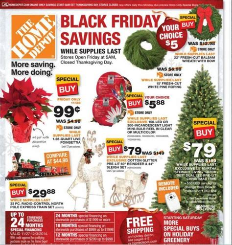 home depot black friday 2014 ad page 1