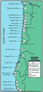 map of oregon coast cities oregon coastal management program estuaries