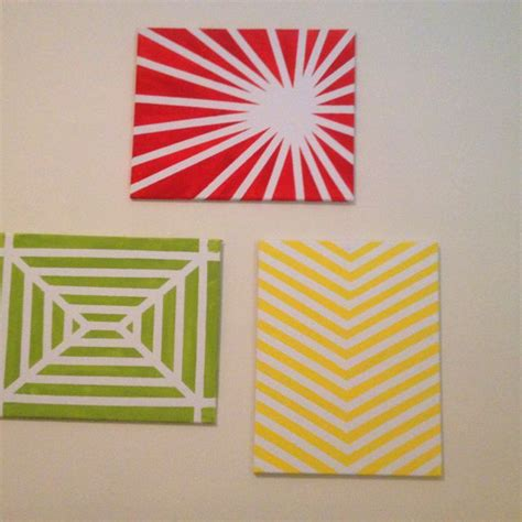 pattern tape wall art easy wall art with just canvas masking tape and paint