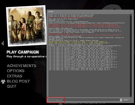 left 4 dead console how to enable console in non us keyboards rodrigo 4 dead