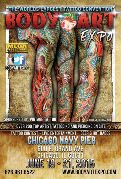 tattoo expo in chicago body art expo chicago show june 2015