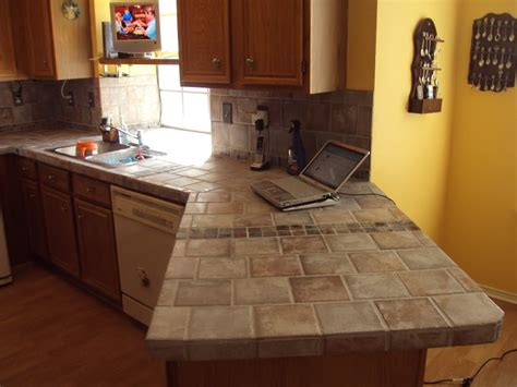tile kitchen countertops over laminate tile over