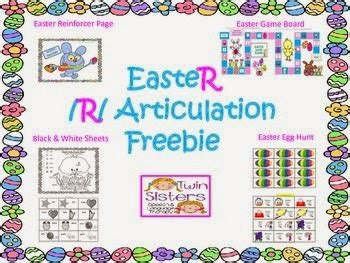 printable articulation board games free easter themed r articulation activities game