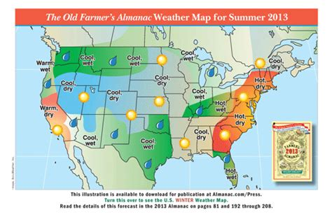 farmers almanac florida the old farmer s almanac 2013 weather predictions mild