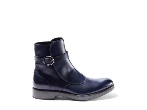 ferragamo boots in blue for royal blue lyst