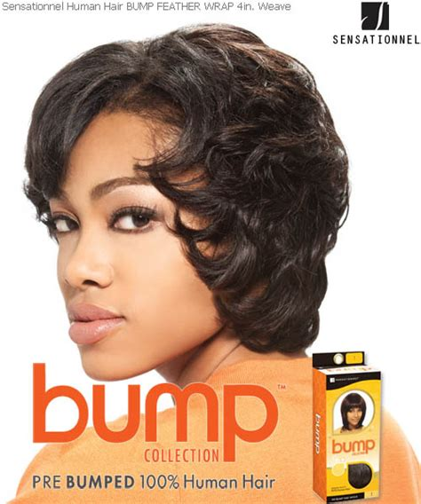 hair styles with the back hair bumped under and top hair short feather wrap 4 sensationnel bump