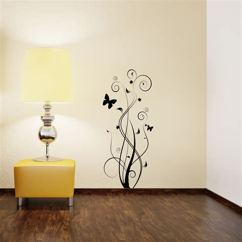 wall and stickers floral butterfly wall sticker removable wall stickers and wall decals