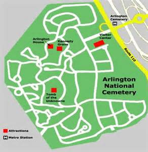 arlington map washingtonvirtualtrip arlington national cemetery