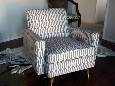 armchair reupholstering how to reupholster a mid century chair just about home
