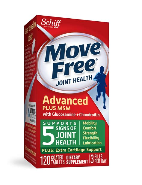 supplement for joint health move free advanced plus msm 120 tablets