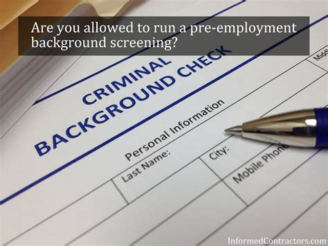 Does A Warning Go On Your Criminal Record Employee Background Criminal Check