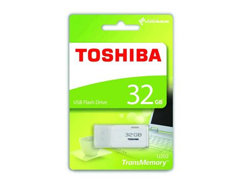 Flash Disk Toshiba toshiba 32gb transmemory usb2 0 flash drive in white thn u202w0320e4 digitalpromo co uk