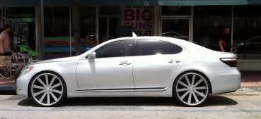 silver lexus ls 460 with custom rims cars on the