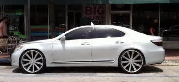 Lexus Ls 460 Rims Silver Lexus Ls 460 With Custom Rims Cars On The