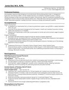 Clinical Pharmacist Sle Resume by Professional Clinical Pharmacist Templates To Showcase Your Talent Myperfectresume