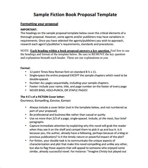book proposal template 16 free sle exle format