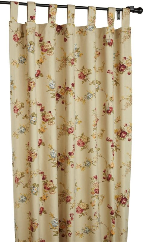 floral drapes fireside floral tab top thermal insulated drapes