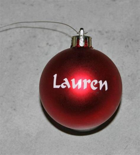 cristmas ball write name other indoor personalized baubles one name per bauble look on my listing for