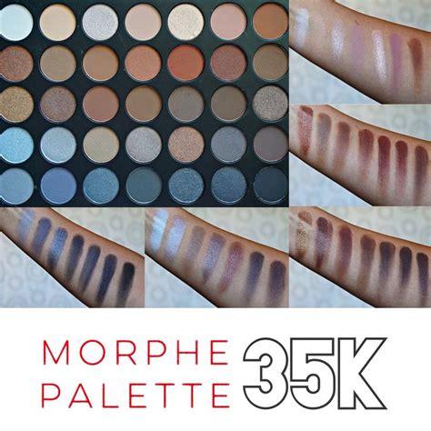 Morphe 35k morphe 35k koffee eyeshadow palette swatches makeup me baby eyeshadow