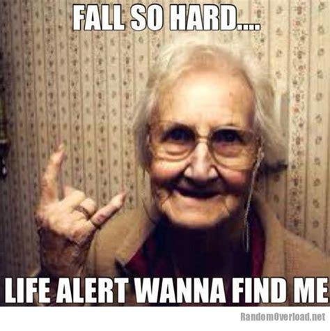 Funny Old Lady Memes - fall so hard randomoverload